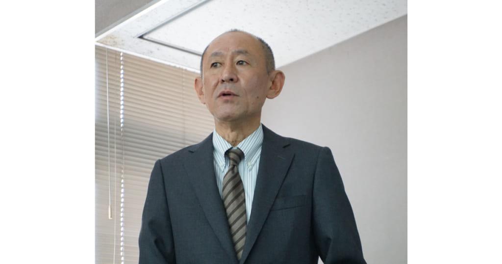 河野義典氏(スタンダード石油大阪発売所 代表取締役社長)