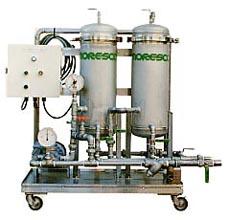 油分除去機能付クリーナー OSS-727 | 水-グリコール型作動液清浄化 | モレスコテクノ