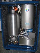 SUNMACHINEの3kWe級ペレット燃焼発電ユニット