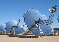 (a)Dish Stirlingシステム/25kWe級Dish Stirlingシステムと太陽光集熱部のエンジン発電機