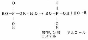 加水分解による酸性リン酸エステルの生成