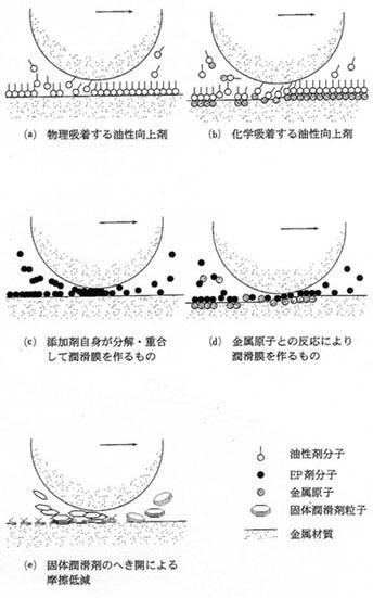 直接接触も含む潤滑に有効な添加剤の作用機構