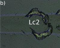 図5b)第二臨界荷重Lc2 - 一部剥離