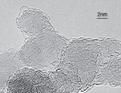ナノダイヤモンドのTEM画像