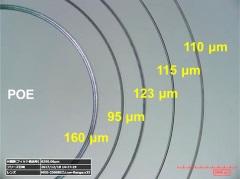 ナノダイヤ摩擦試験後のディスク摩耗痕の光学顕微鏡写真(左)