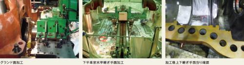 火力発電所現地機械加工-現地機械加工