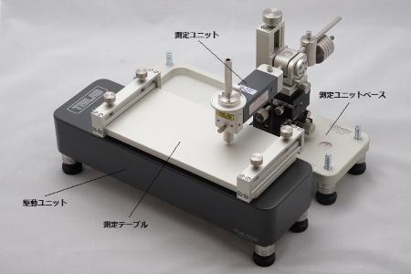 静・動摩擦測定を行ったテーブル移動構成