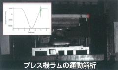 プレス機ラムの運動解析-振動可視化測定サービス