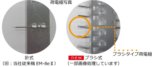 荷電極の従来機比較-EM-8e III(アマノ)